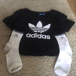 Adidas crop top and socks